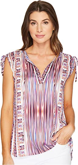 Pretty Brilliant Rayon Satin Woven Top with Ties