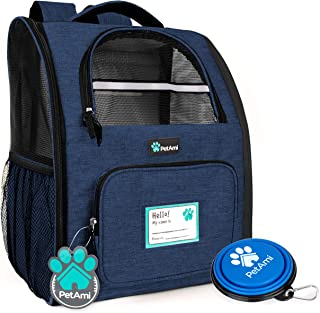 PetAmi Deluxe Pet Carrier Backpack for Small Cats and Dogs, Puppies | Ventilated Design, Two-Sided Entry, Safety Features ...