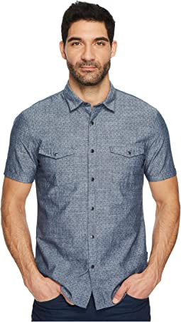 John Varvatos Star U.S.A. - Short Sleeve Shirt w/ Snap Closure