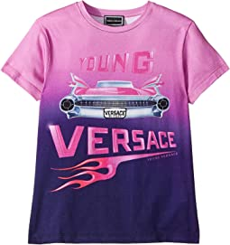 Versace Kids Short Sleeve Logo Car Graphic T-Shirt (Big Kids)