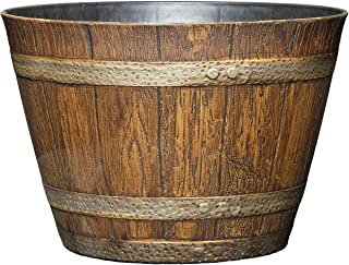 """Classic Home and Garden 74 Whiskey Barrel, 9"""", Distressed Oak"""