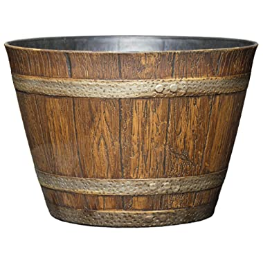Classic Home and Garden 74 Whiskey Barrel, 9 , Distressed Oak
