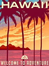 A SLICE IN TIME Hawaii Welcome to Adventure Hawaiian United States Travel Home Collectible Wall Decor Advertisement Art Poster Print. 10 x 13.5 inches
