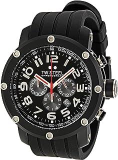 TW Steel - Grandeur Tech TW-135 - Reloj cronógrafo de Cuarzo para Hombre, Correa de Silicona Color Negro (cronómetro)