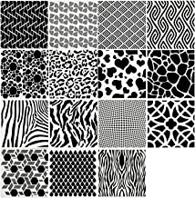 15 Pieces Animal Print Cookie Stencils Geometric Stencils Reusable Plastic Painting Templates for Scrapbooking Painting on...