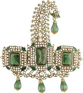 I Jewels مطلية بالذهب الهندي التقليدي والمزين بأحجار سافا دوليا باجادي كالانجي للرجال العريس (SM56)