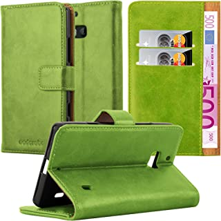 Cadorabo Book Case Compatible with Nokia Lumia 929/930 in Grass Green - with Magnetic Closure, Stand Function and Card Slo...