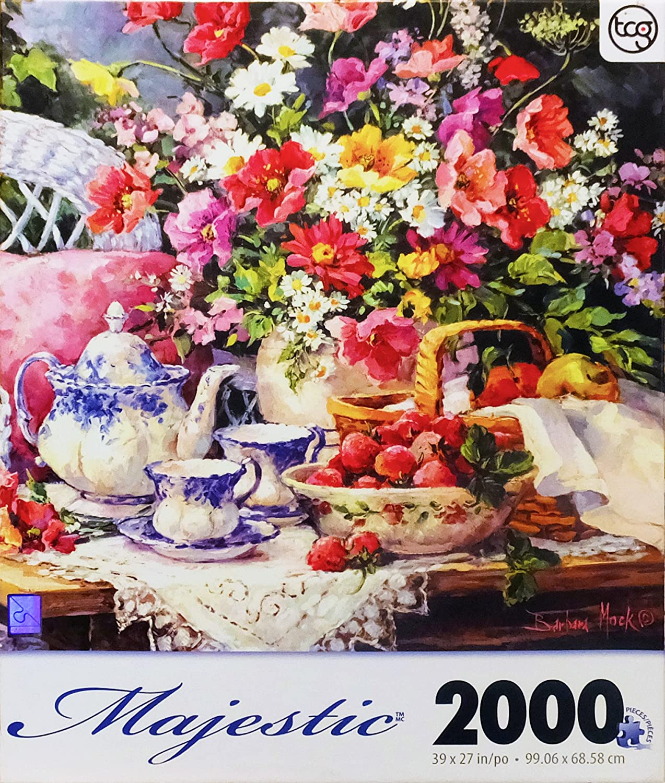 Tea & Strawberries 2000 Piece Jigsaw Puzzle