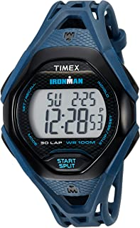 Timex Men's TW5M10600 Ironman Sleek 30 Blue/Black Resin Strap Watch