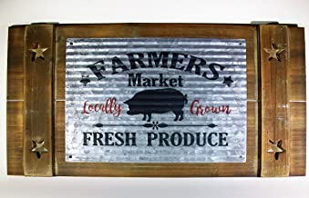 BlueRidge Barn Farmers Market Hog Sign, Wall Decor, Farmhouse Wall Art