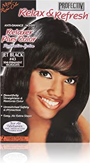 Profectiv Relax & Refresh Relaxer Plus Color, Jet Black