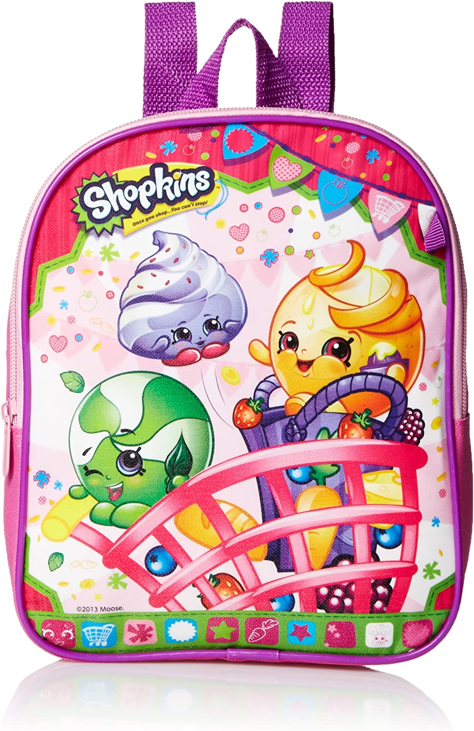 Shopkins Girls 10 Inch Mini Backpack Purse Pink with One NEW before selling ☆ discount Coin