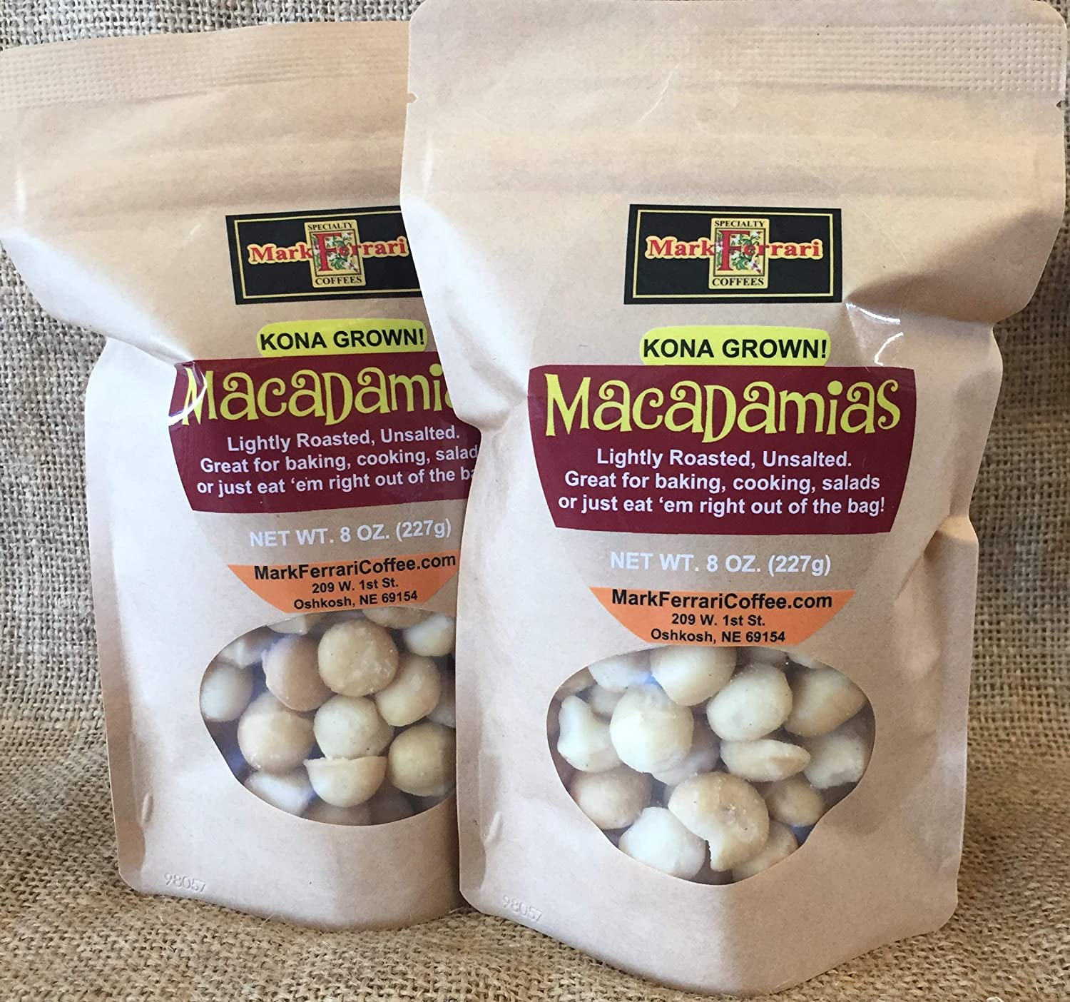 MACADAMIAS 1LB 5 popular Twin-Pack 8oz. Bags. Popular products Two