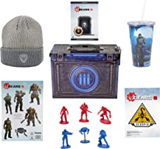 Toynk Gears of War 5 Video Game Collectors Edition Looksee Ammo Tin with Grey Beanie, Action Figures and Exclusive DLC Con...