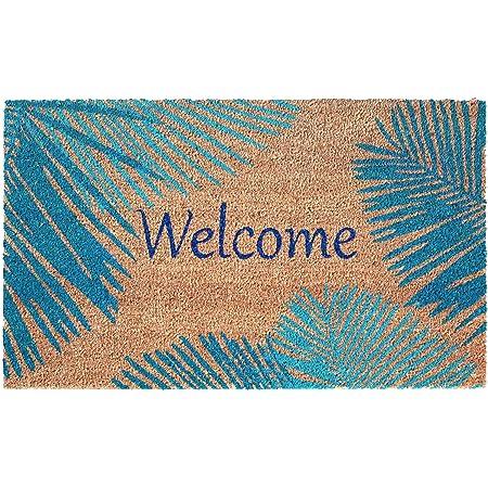 """Liora Manne Novelty 18/""""X30/"""" Blue Rectangle Door Mat NTR12203504"""