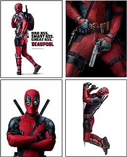 Deadpool --- Set of 4 PHOTO PRINTS / Mini POSTERS of the HIT Marvel Comics Movie starring Ryan Reynolds as Wade Wilson