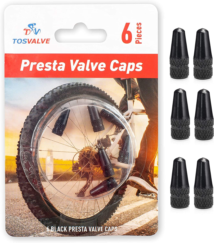 Presta Valve Caps New Large special price !! York Mall - Stem Anodized 6pcs Tire