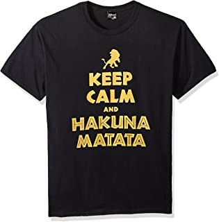 Disney Men's Lion King Simba Keep Calm and Hakuna Matata Graphic T-Shirt