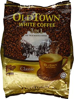 Old Town Instant White Coffee 3 in 1 Variety Pack, 2 Bags (Classic & Hazelnut, 21.2oz/600g Per Bag)