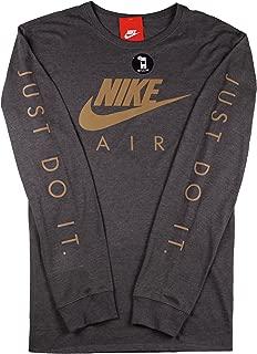 Men's Air Max Logo Long Sleeve Shirt XX-Large Charcoal Grey Reflective Gold