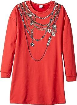 Little Marc Jacobs - Essential Trompe L'Oeil Long Sleeve Dress (Big Kids)