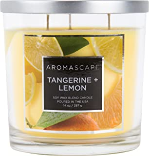 Aromascape 3-Wick Scented Jar Candle, Tangerine & Lemon