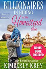 Billionaires In Hiding at The Homestead Inn: Family Romance Series Books 1-3 + Bonus Book (Billionaire & or Cowboy Collections by Kimberly Krey 3) Kindle Edition