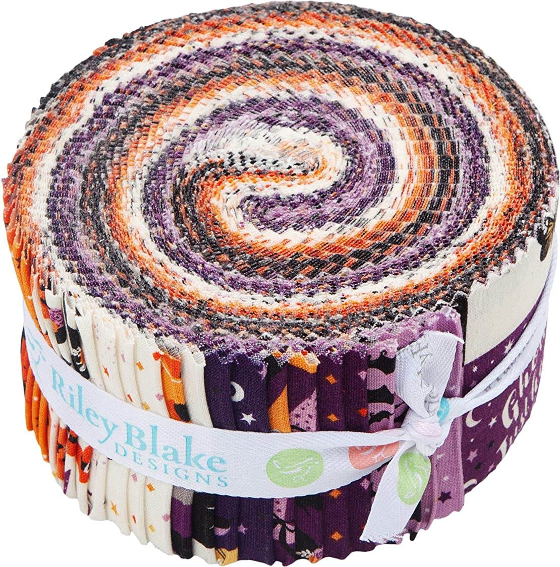 Dani Mogstad Fab-Boo-lous Rolie Polie 40 2.5-inch Strips Jelly Roll Riley Blake Designs RP-8170-40 mg79329805534926