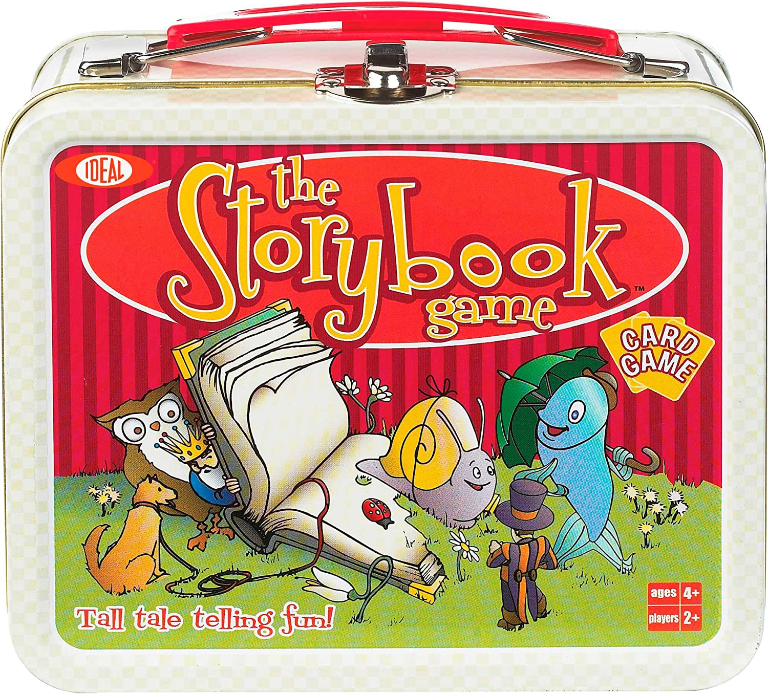 Ideal The Storybook Memory Card Game with Mini Collectible Tin Lunch Box Storage Container, 54colorfully Illustrated Cards
