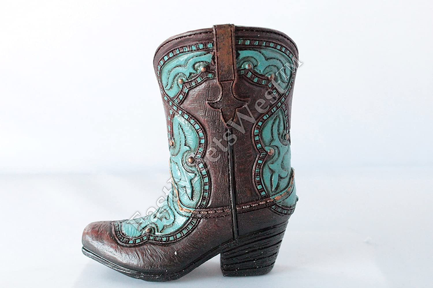 Small Western All Challenge the lowest price of Japan stores are sold Cowboy Cowgirl Rustic Boot Vase Turquoise Flowers