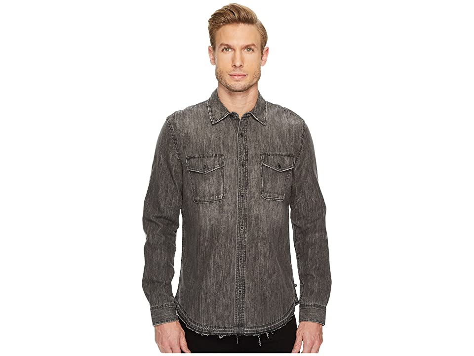 Image of AG Adriano Goldschmied Benning Long Sleeve Denim Shirt (Tunnel) Men's Long Sleeve Button Up
