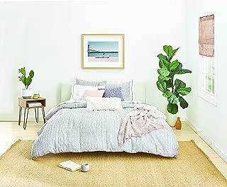 Splendid Home Laguna Stripe Comforter Set, Full/Queen, Navy/Ivory