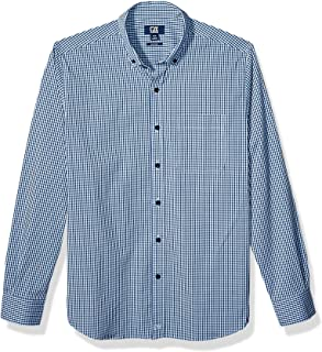 Men's Long Sleeve Anchor Gingham Button Up Shirt