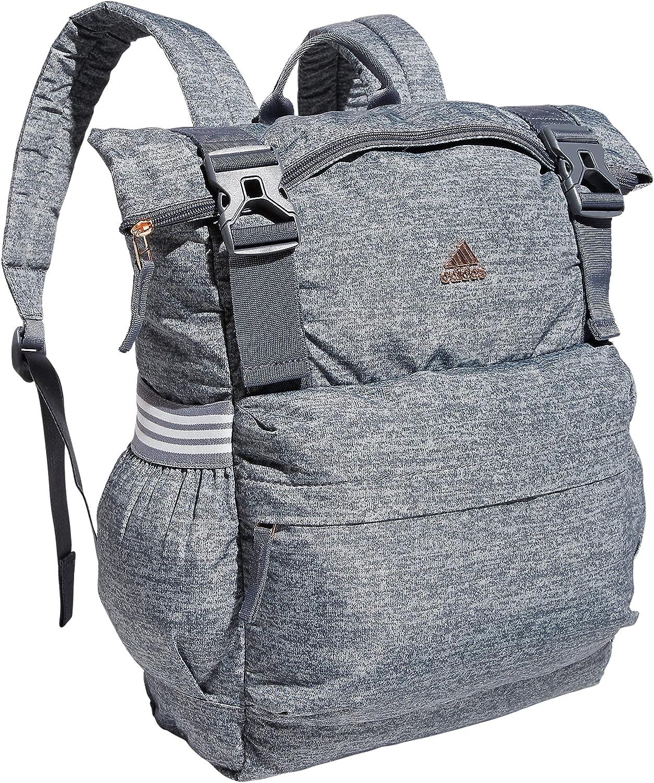 adidas Women's YOLA 3 Sport Backpack, Jersey Onix Grey/Rose Gold/Grey, One Size