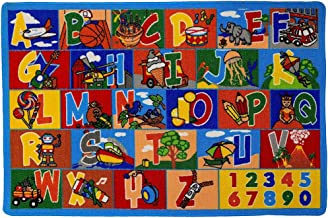 Kids Rug ABC-1 Numbers Children Area Rug 5'X7' - Non Skid Gel Backing (59