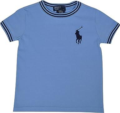Polo Ralph Lauren Camiseta de manga corta para niño, talla 12, 18, 24 meses, azul o blanco