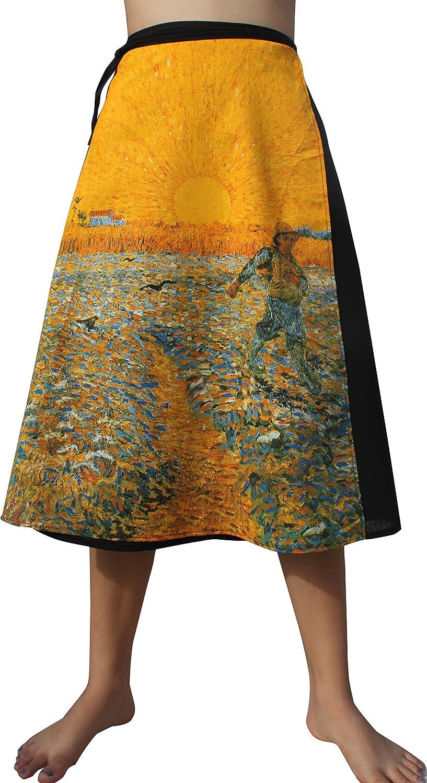 Raan Pah Muang Vincent Van Gogh seminatore 3 4 Length Wrap Skirt