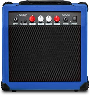 LyxPro Electric Guitar Amp 20 Watt Amplifier Built In Speaker Headphone Jack And Aux Input Includes Gain Bass Treble Volum...