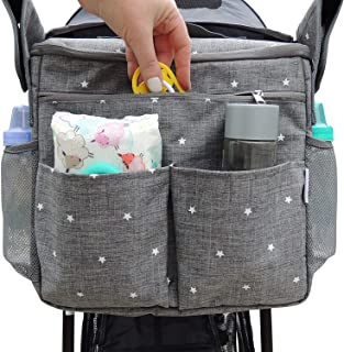 Universal Stroller Organizer Bag by Goodstuffshop. Large Insulated Parent Console with Cup Holder and Extra Storage Pocket...