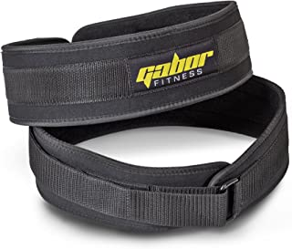 Gabor Fitness 4-Inch Epic Performance Low Profile Weightlifting Lifting Belt