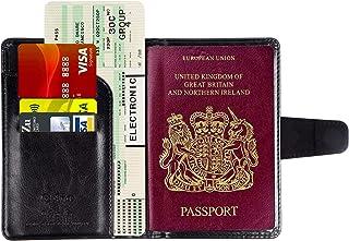PU y Polyester Naranja Laroom Funda para Pasaporte
