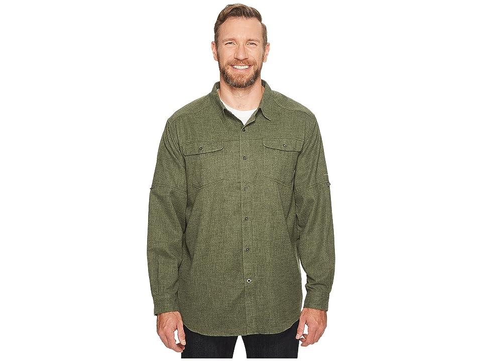 Columbia Big Tall Pilsner Lodge Long Sleeve Shirt (Surplus Green Heather) Men