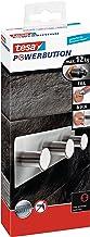 tesa Powerbutton Classic Hakenlijst - Driedubbele zelfklevende haakjes - Handdoekhaken, ophanghaakjes - Max. draagkracht p...