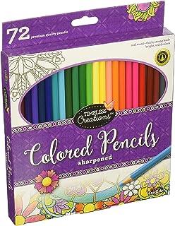 Cra-Z-Art Timeless Creations رنگ آمیزی بزرگسالان: مداد رنگی 72ct (10456PDQ-24)