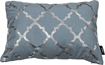 Kensie Holly Decorative Pillows, Inserts & Covers, Aqua-Blue-Silver