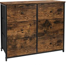 CASATOCA 3-Tier Drawer Dresser, Storage Dresser with 6 Fabric Drawers, Organizer Unit for Bedroom,Entryway and Closets, St...