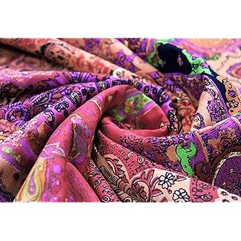 Trade Star – Tela india de impresión a mano, tela de algodón para ...