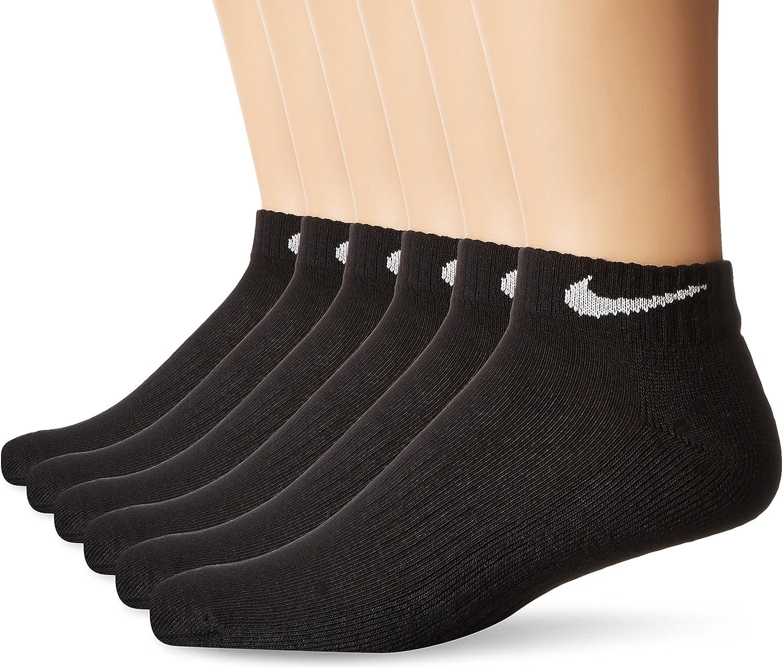 Amazon.com: NIKE Performance Cushion Low Rise Socks with Bag (6 Pairs):  Clothing