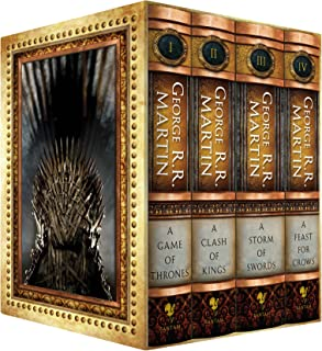 The George R.R. Martin Song Of Ice and Fire Hardcover Box Set featuring A Game of Thrones, A Clash of Kings, A Storm of Swords, and A Feast for Crows (Amazon Exclusive) (Song of Fire and Ice)