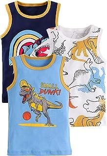 Baby Little Boys Tank Top Shirts 3 Pack Tanks Set
